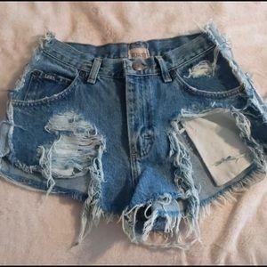 Furst of a kind Destroyed Denim shorts